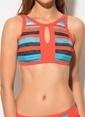 Dagi Boyundan Bağlı Bikini Takım Oranj